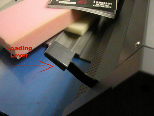 vinyl cutter - loading levers