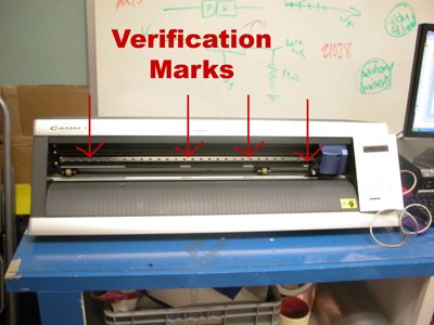 vinyl cutter - plotter verification marks